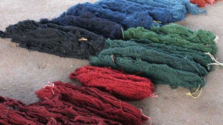 ギャッベ・草木染の染料